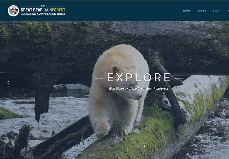 The Great Bear Rainforest Education and Awareness Trust website